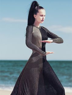 Moving With Awareness | Harper's Bazaar Vietnam July 2014 | #AllaKostromichova photographed by #OliverStalmans #fashioneditorial