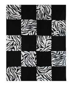 Loving this Zebra Alpine Fleece Patchwork Lap Blanket Sewing Kit on #zulily! #zulilyfinds