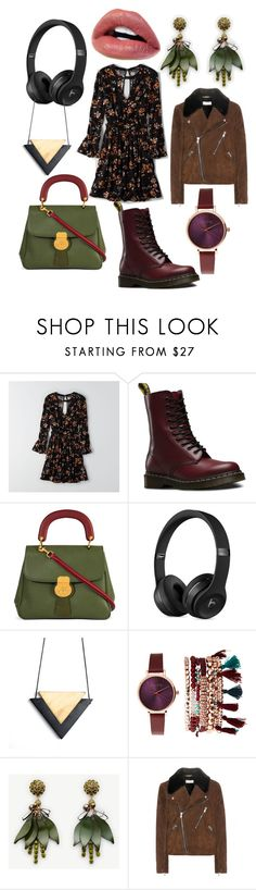 """Осень в городе"" by evavendoc on Polyvore featuring мода, American Eagle Outfitters, Dr. Martens, Burberry, Jessica Carlyle, Ann Taylor и Yves Saint Laurent"