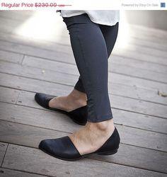 SUMMER SALE del 20 Flat in pelle scarpe scarpe di WalkByAnatDahari