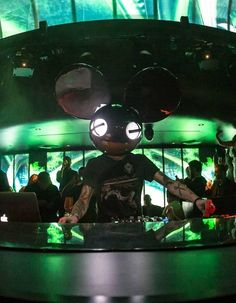 GRAMMY-nominated dance music phenomenon, deadmau5 took over the elaborate DJ booth and spun his infectious music to the masses during the #Hakkasan Las Vegas @ #MGMGrand opening night party on 4/18/13