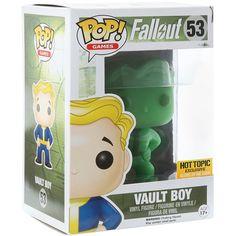Funko Pop! Vault Boy Fallout Glow in the Dark Hot Topic Exclusive Vinyl Figure