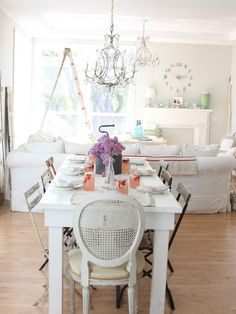 http://dreamywhites.blogspot.com/ - eclectic - dining room - other metros - Dreamy Whites