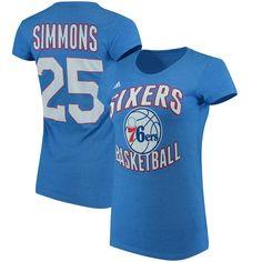 29bbce7e2 NBA Ben Simmons Philadelphia 76ers adidas Women s Name  amp  Number T-Shirt  - Royal