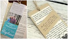 A few of the inspirational bookmarks that inspired our DIY Wedding Favor Bookmarks.