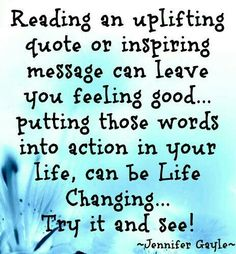Reading an uplifting quote or inspiring message...