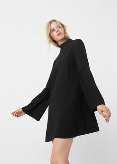 Bow neck dress | MANGO