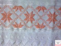 Resultado de imagem para toalhas bordadas ponto reto