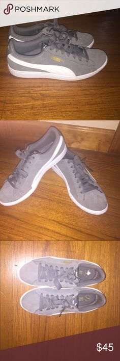 Suede jr puma (size 4.5 kids, women's 7) Only worn about three times brand new without tags's Puma Shoes Sneakers