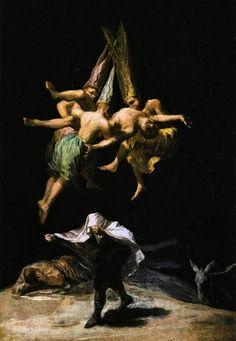 Bruxas no Ar - Goya, Francisco e suas pinturas ~ Foi um importante pintor espanhol da fase do Romantismo