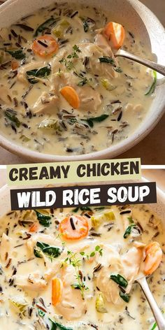Creamy Chicken Rice Soup, Chicken And Wild Rice, Chicken And Rice Crockpot, Chicken Corn Chowder, Creamy Rice, Wild Rice Recipes, Easy Soup Recipes, Cooking Recipes, Soup Recipes With Chicken