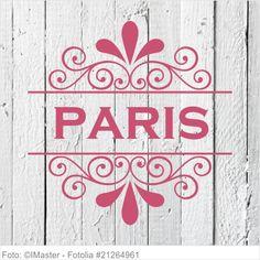 Möbeltattoo Paris mit Ornament Shabby Chic Style 02