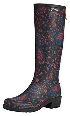 Aigle Damen Miss Juliette Print  Gummistiefel Mehrfarbig (Marine / Paisley 1) 35 - Stiefel für frauen (*Partner-Link) Paisley, Partner, Cowboy Boots, Best Deals, Link, Shoes, Fashion, Woman, Moda