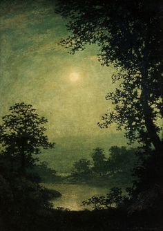 Moonlight: 1883-1889 by Ralph Albert Blakelock (High Museum of Art, Atlanta, GA) - Romanticism
