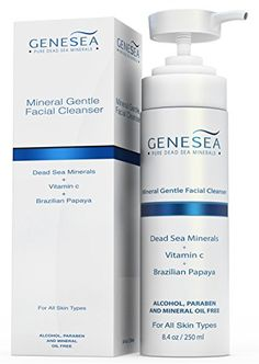 Dead Sea Facial Cleanser Infused with Vitamin C  Brazilian Papaya  Deep Pore Cleansing Experience Gentle Yet Effective  Sulfate  Paraben Free  For All Skin Type >>> To view further for this item, visit the image link.