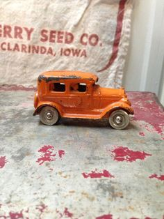 1920's Cast Iron Car Kilgore Toy Co by SylviasFinds on Etsy, $50.00
