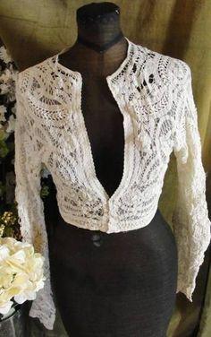 Gorgeous Antique Victorian French Net Battenburg Lace Ladies Blouse | eBay