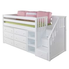 Best Low Loft Bed with Dressers Design