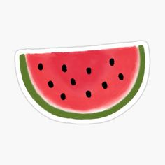 Watermelon sticker to bring a summer vibe to your notebook, water bottle, laptop, and Preppy Stickers, Food Stickers, Printable Stickers, Cute Stickers, Planner Stickers, Apple Laptop Stickers, Empathy Quotes, Homemade Stickers, Tumblr Stickers