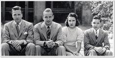 Edsel & Eleanor Ford's children: Henry II, Benson, Josephine, and William