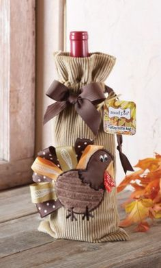 Thanksgiving Wine Bottle Bag Too Cute! - Children's Fall Clothing 2012 - Cassie's Closet
