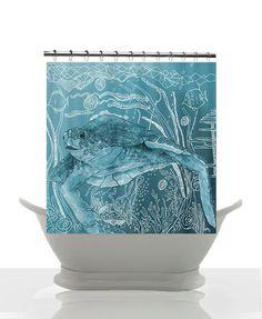 Sea Turtle Bathroom Decor Beautiful Artistic Shower Curtain Shelley Of the Deep Blue Sea Watercolor Art Sea Turtle Surf Beach Beach Bathrooms, Bathroom Art, Bathroom Ideas, Bathroom Closet, Beach Shower Curtains, Turtle Love, Turtle Beach, Watercolor Sea, Teen Decor