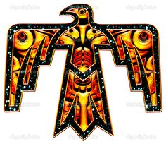 Sacred Thunderbird - native american symbol — Stock Photo © Anne ... Indian Symbols, Russian Art, American Indians, Lettering, Nativity, Design, Calligraphy, The Nativity, Drawing Letters