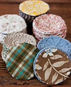 Handmade Gift Idea: Hand-Knit Calla Coasters #knit #crochet #sewing #craft