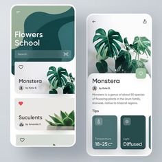 🌲 Do you have any greenery in your backyard? Flowering app by Konstantin Zhuck . 🔮 Want to be featured? Use for a chance to be… The Effective Pictures We Offer You About ipad App Design A Cool Web Design, Web Design Mobile, App Ui Design, Interface Design, Layout Design, Flat Design, User Interface, Design Design, Web Layout