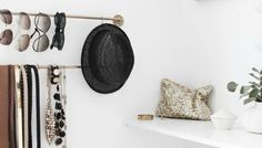 A Fashionable Home: Minimal And Bright Walk-In Closet -- Scandinavian Minimal Interior Design -- Storage Via Stylizimo -- photo Closet Walk-in, Closet Ikea, Closet Small, White Closet, Simple Closet, Diy On A Budget, Decorating On A Budget, Wall Storage, Storage Spaces