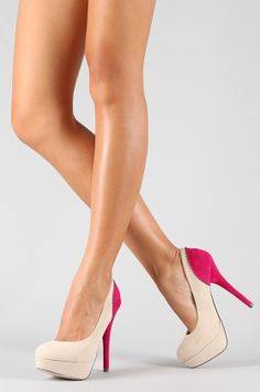 Two toned high heels beauties ♥