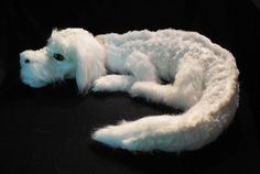 Handmade Falkor Plush Toy From The NeverEnding Story Becomes An Internet Sensation Fantasy Creatures, Mythical Creatures, Neverending Story Movie, Beautiful Fantasy Art, Dog Friends, Plushies, My Childhood, Pattern Paper, Sewing Projects