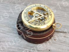3 inch sundial antique compass, pocket compass, steampunk gift, nautical decor, personalized gifts, Man Gift, Men Gift, Maritime Gift