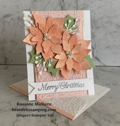 Birthday Gift Cards, Homemade Birthday Cards, Homemade Christmas Cards, Christmas Cards To Make, Xmas Cards, Holiday Cards, Poinsettia Cards, Christmas Poinsettia, Stamped Christmas Cards