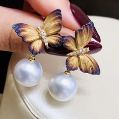 Pearl Jewelry, Bridal Jewelry, Gold Jewelry, Pearl Earrings, Pearl Design, Beautiful Earrings, Pearl White, 18k Gold, Jewelry Collection