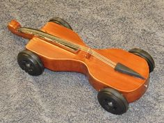 Pinewood Derby Cello car