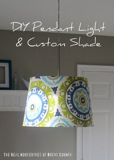 Plug in pendant light with the perfect print! my-style-pinboard