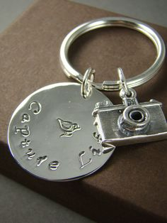 Camera Keychain Key Ring Unique Photographer Gift Idea by ShinyLittleBlessings on Etsy, $24.00