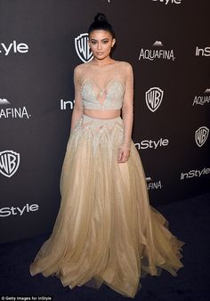 Kylie Jenner at the Golden Globe Awards