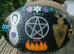Paint an alter on a rock to leave in your garden, or to take with you to keep you grounded