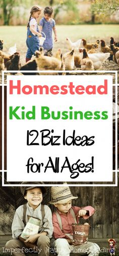 Homestead Kid Business - 12 Ideas that can help homesteading and farming kids start their own businesses.