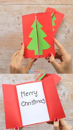 Christmas Tree Card Idea - Another day, another Christmas card idea – let's make this Christmas tree card together! - : Christmas Tree Card Idea - Another day, another Christmas card idea – let's make this Christmas tree card together! Handmade Christmas Tree, Christmas Card Crafts, Christmas Tree Cards, Preschool Christmas, Holiday Crafts, Christmas Decorations, Christmas Ornaments, Xmas Tree, Simple Christmas