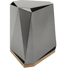 McGuire Furniture: Steven Volpe Coburg Faceted Side Table: 876