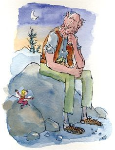 Sophie and The BFG by Roald Dahl, illustrations by Quentin Blake Children's Book Illustration, Character Illustration, Illustration Styles, Book Illustrations, Quentin Blake Illustrations, Roald Dahl Books, Children's Book Characters, Sketch Inspiration, Book Art