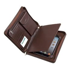 Deluxe Leather Padfolio Case, Fits iPad Mini 4 and Junior Legal Paper