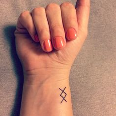 Small geometric Nordic Rune tattoo: where there's a will there's a way/new beginnings #tinytattoo #tattoo #viking