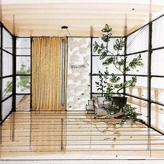 Home Decoration Inspiration Info: 8306365454 Interior Architecture Drawing, Interior Design Renderings, Drawing Interior, Watercolor Architecture, Architecture Sketchbook, Interior Rendering, Interior Sketch, Interior Concept, Architecture Design