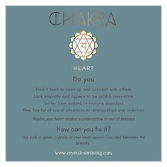 The heart chakra is the centre of love and connection. Chakra Healing, Crystal Healing, Emotional Awareness, Heart Chakra, Self Care, Disorders, Centre, Connection, Love