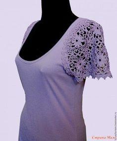 Небольшая подборочка. Вязаный капюшон Платье. Вязаный лиф Комбинирование трикотаж+вязание выкройка схема Вязание+гипюр