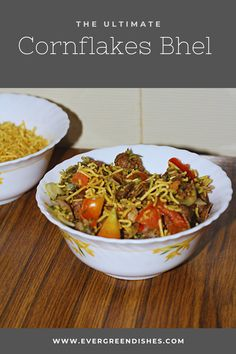 Cornflakes bhel is tasty, easy to make snack. It is a healthy twist to the usual bhel puri. #chaats #indianfood #healthysnacks